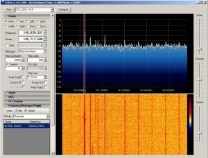 SDR software, main screen